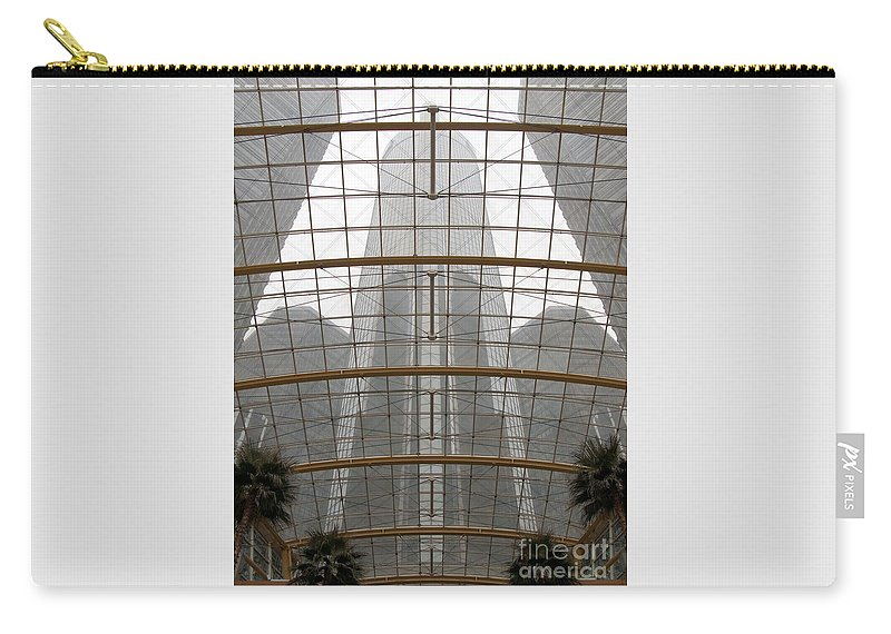 Detroit Carry-all Pouch featuring the photograph Rencen From Within by Ann Horn