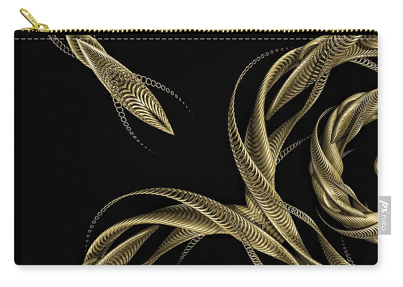 Insignia Carry-all Pouch featuring the digital art Rendezvous by John Edwards