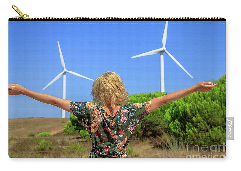Wind Turbines Carry-all Pouch featuring the photograph Renewable Energy Concept by Benny Marty