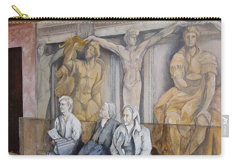 Vaticano Carry-all Pouch featuring the painting Reposo En El Vaticano by Tomas Castano