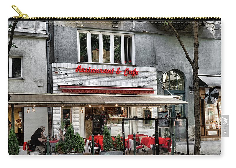 Budapest Carry-all Pouch featuring the photograph Restaurant And Cafe by Sharon Popek