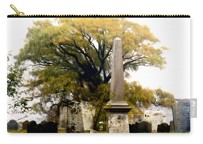 Cemetery Carry-all Pouch featuring the painting Resting In Peace by Paul Sachtleben