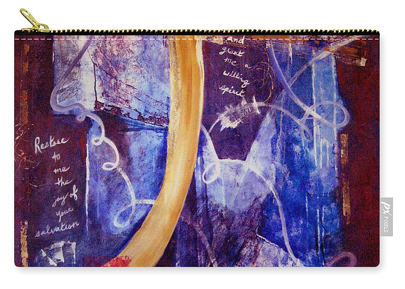 Abstract Carry-all Pouch featuring the painting Restore To Me by Ruth Palmer
