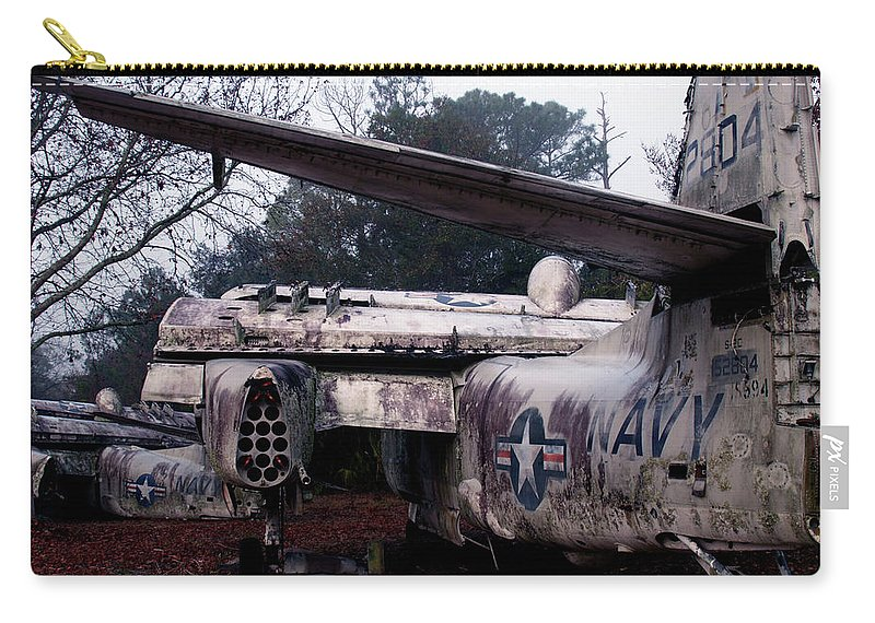 Airplane Carry-all Pouch featuring the photograph Retired Navy by Bob Johnson