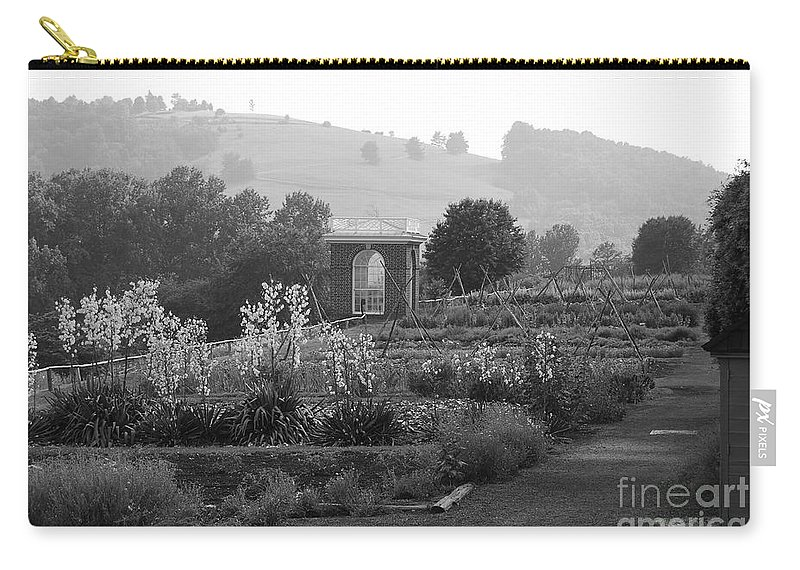 Black And White Carry-all Pouch featuring the photograph Retreat by Eric Liller