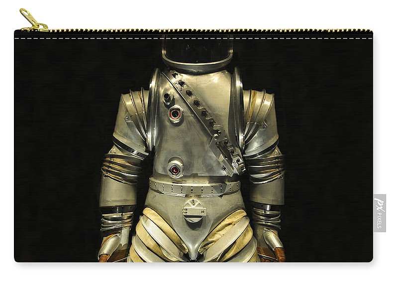 Astronaut Carry-all Pouch featuring the photograph Retro Astronaut by David Lee Thompson