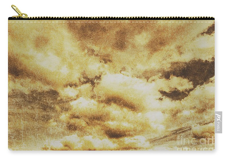 Dramatic Carry-all Pouch featuring the photograph Retro Grunge Cloudy Sky Background by Jorgo Photography - Wall Art Gallery