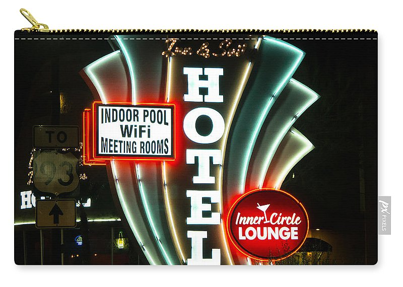 Retro Carry-all Pouch featuring the photograph Retro Neon by Stephen Whalen