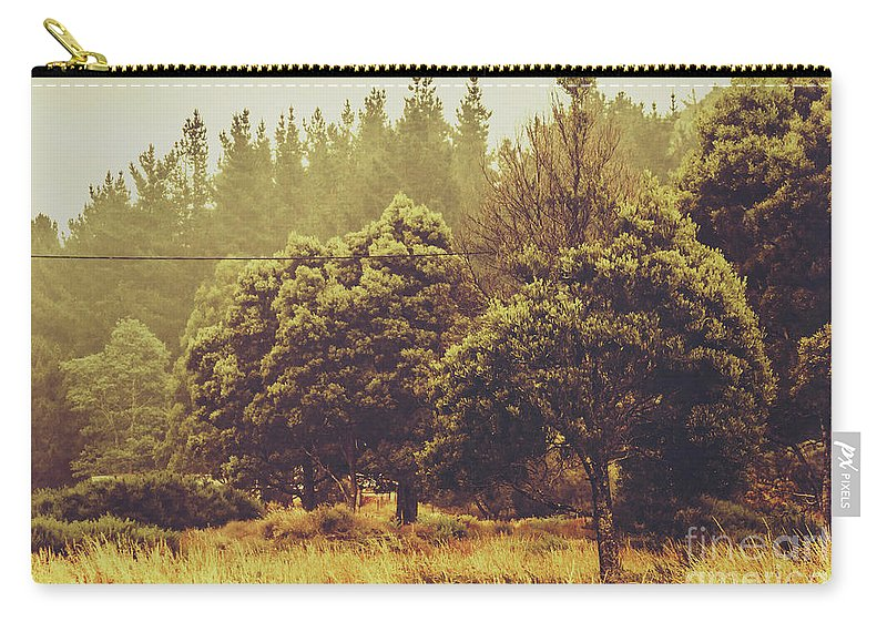 Nature Carry-all Pouch featuring the photograph Retro Rural Tasmania Scene by Jorgo Photography - Wall Art Gallery