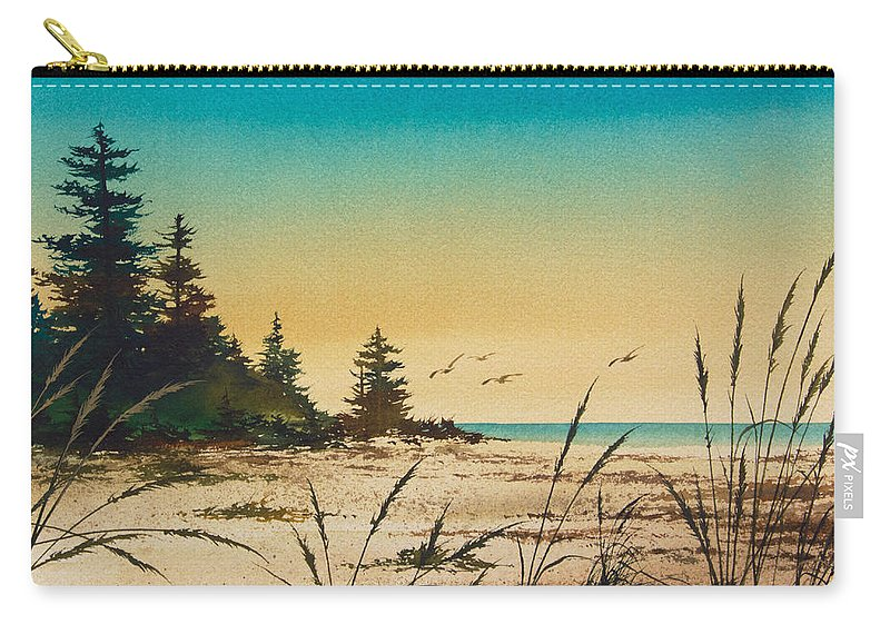 Shore Carry-all Pouch featuring the painting Return To The Shore by James Williamson