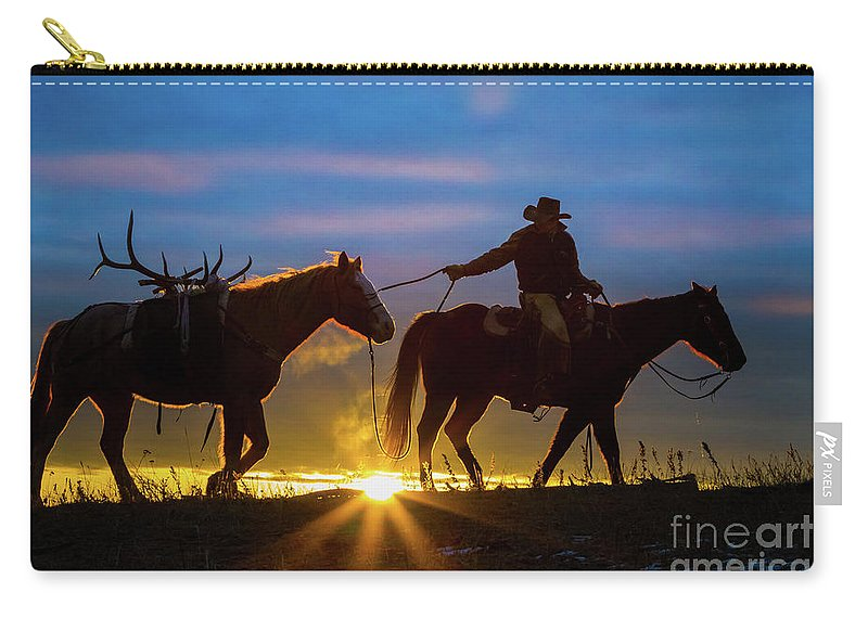 America Carry-all Pouch featuring the photograph Returning Home by Inge Johnsson