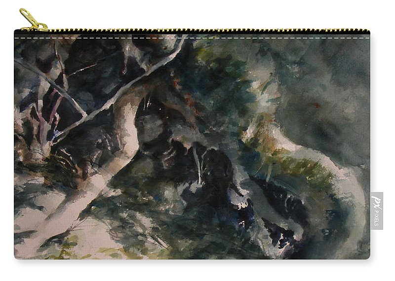 Nature Carry-all Pouch featuring the painting Revealed by Rachel Christine Nowicki