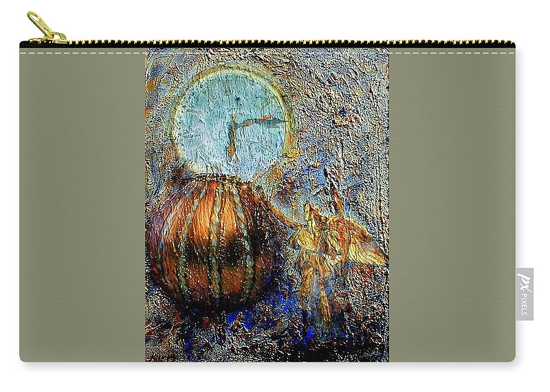 Christian Carry-all Pouch featuring the mixed media Revelation by Gail Kirtz