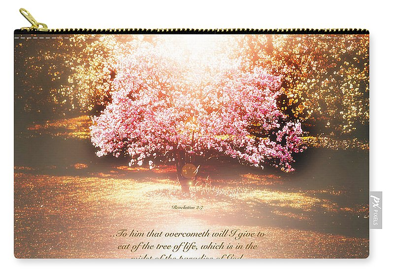 Revelation Carry-all Pouch featuring the photograph Revelation Tree Of Life by Debbie Nobile