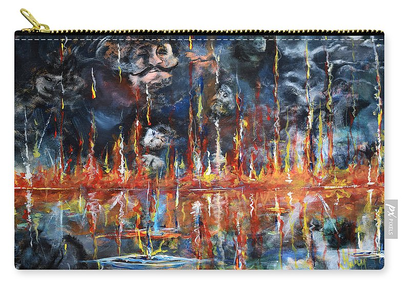 Bible Carry-all Pouch featuring the painting Revelations 20_ 14-15 by Gary Smith