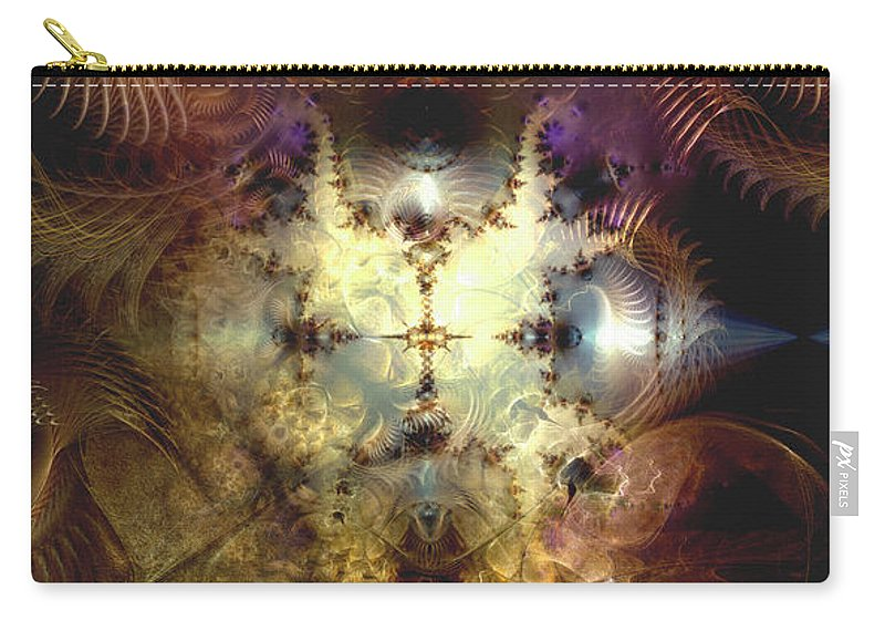 Abstract Carry-all Pouch featuring the digital art Reverberations From The Obliteration by Casey Kotas
