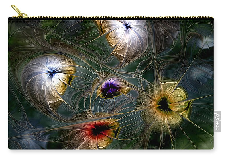 Abstract Carry-all Pouch featuring the digital art Revival by Casey Kotas