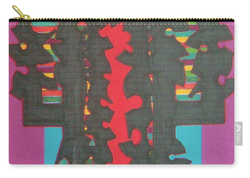 Abstract Carry-all Pouch featuring the drawing Rfb0420 by Robert F Battles