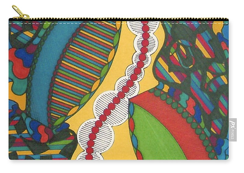Abstract Carry-all Pouch featuring the drawing Rfb0421 by Robert F Battles
