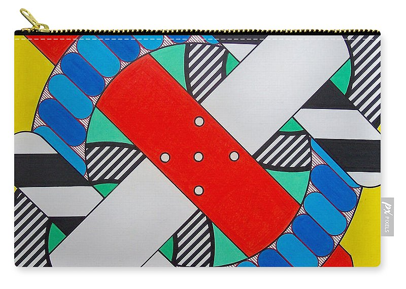 Abstract Carry-all Pouch featuring the drawing Rfb0602 by Robert F Battles