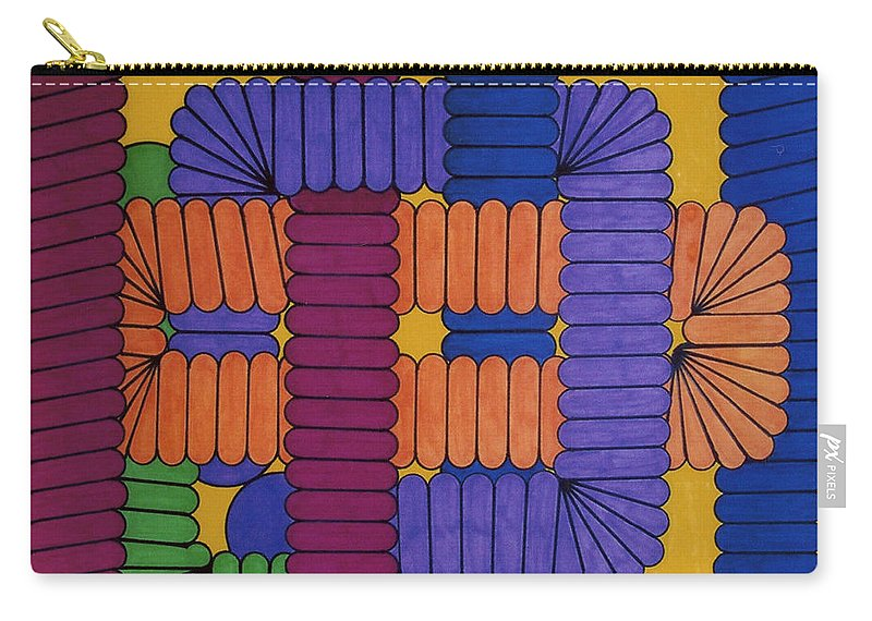 Abstract Carry-all Pouch featuring the drawing Rfb0612 by Robert F Battles
