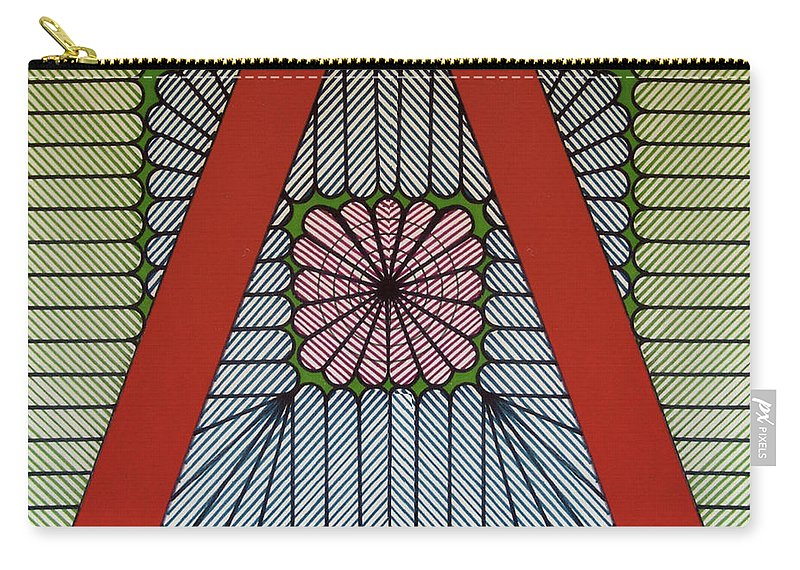 Abstract Carry-all Pouch featuring the drawing Rfb0615 by Robert F Battles