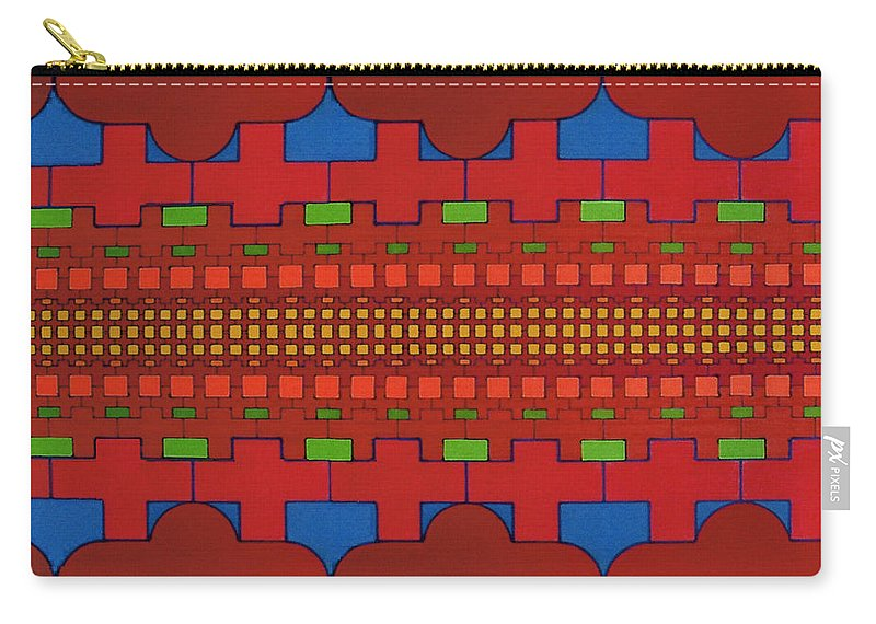 Crosses Carry-all Pouch featuring the drawing Rfb0630 by Robert F Battles