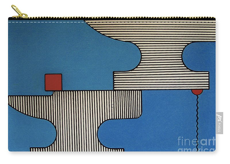 Anvils Carry-all Pouch featuring the drawing Rfb0907 by Robert F Battles