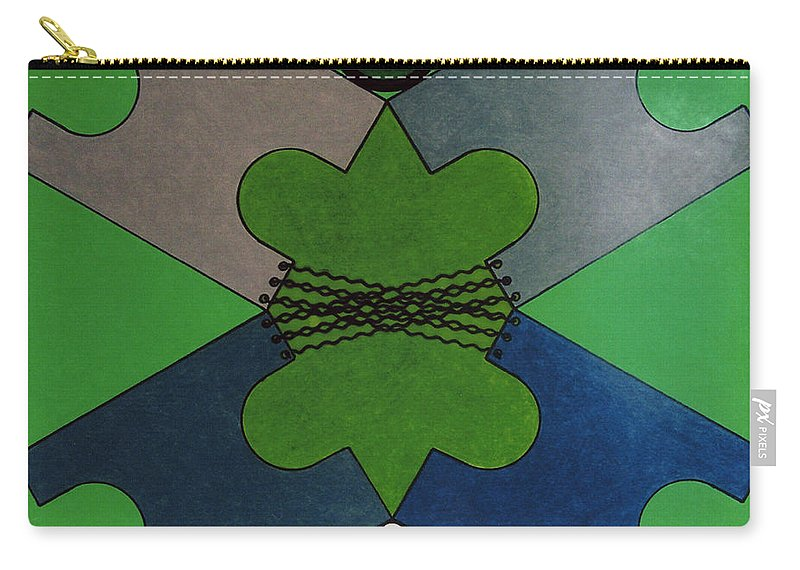 Abstract Carry-all Pouch featuring the drawing Rfb0921 by Robert F Battles