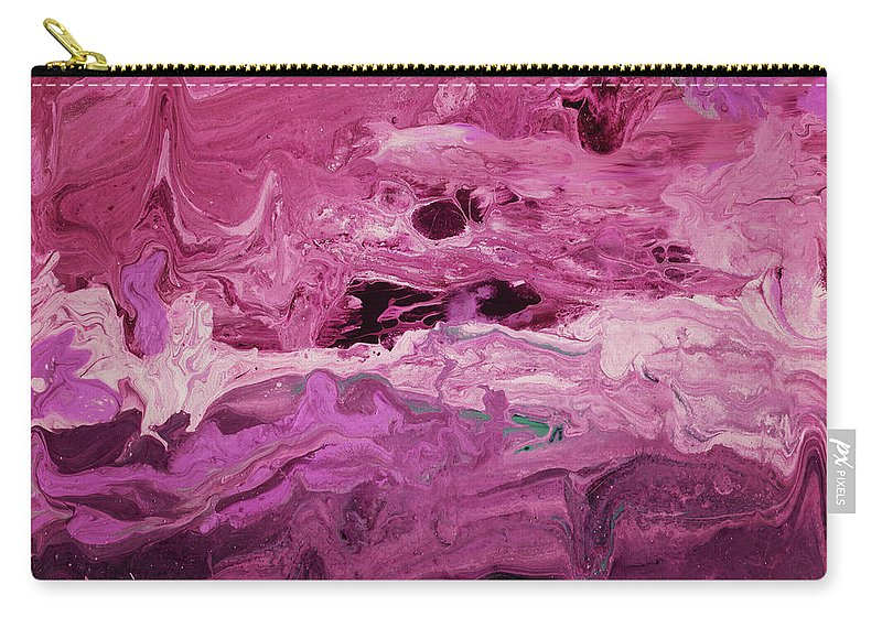 Abstract Carry-all Pouch featuring the mixed media Rhapsody 2- Art By Linda Woods by Linda Woods