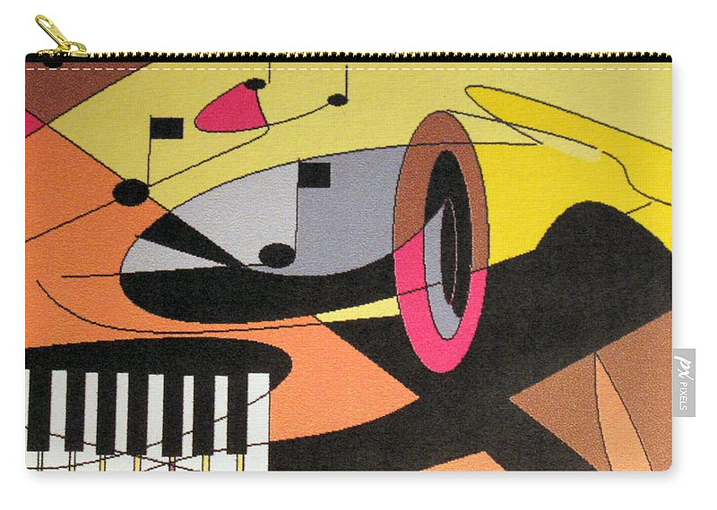 Music Carry-all Pouch featuring the digital art Rhapsody by Ian MacDonald