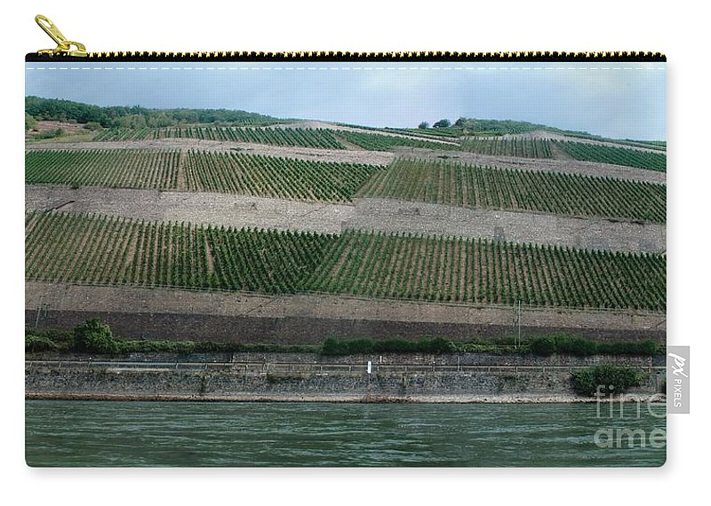 Rhine Carry-all Pouch featuring the photograph Rhine Valley Vineyards Panorama by Thomas Marchessault
