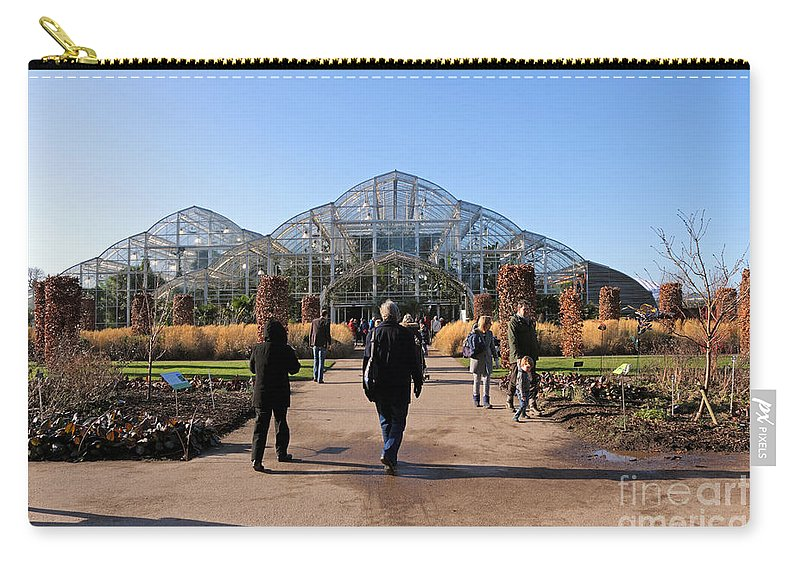 Glasshouse At Rhs Wisley Surrey Uk Carry-all Pouch featuring the photograph Rhs Wisley Surrey Uk by Julia Gavin