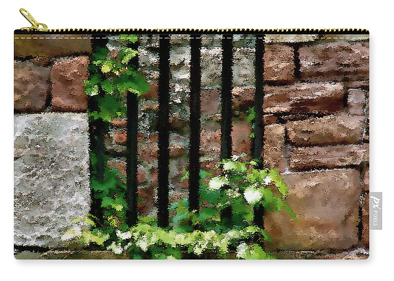 American History Carry-all Pouch featuring the digital art Rhus Radicans Triumphant by RC DeWinter