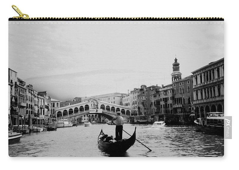 Gondolier Carry-all Pouch featuring the photograph Rialto Bridge In Venice by Heike Hellmann-Brown