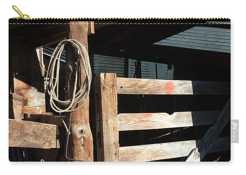 Riata Carry-all Pouch featuring the photograph Riata by Jerry McElroy