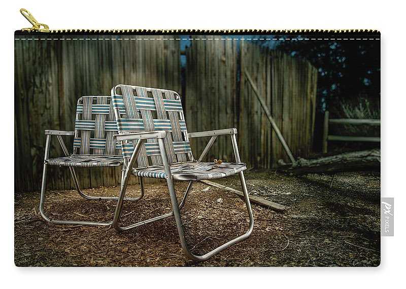 Art Carry-all Pouch featuring the photograph Ribbon Chairs by YoPedro
