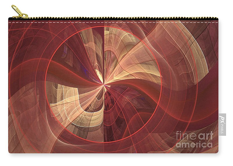 Digital Carry-all Pouch featuring the digital art Ribbons Of Pink by Deborah Benoit