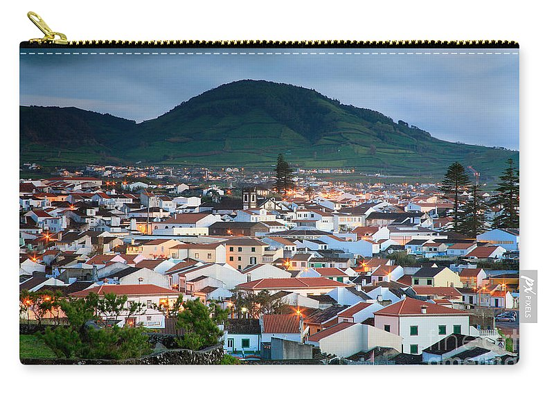 Europe Carry-all Pouch featuring the photograph Ribeira Grande At Nightfall by Gaspar Avila