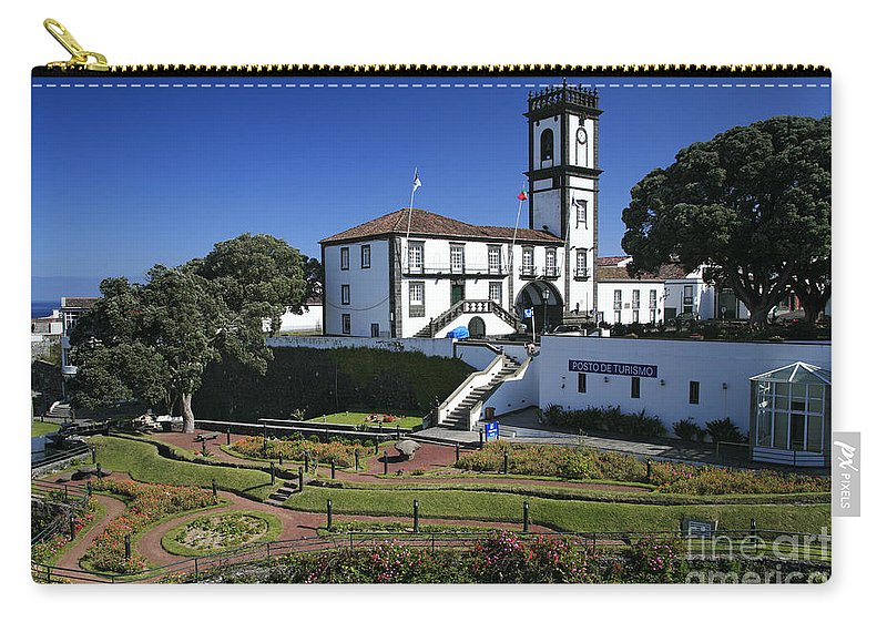 Facade Carry-all Pouch featuring the photograph Ribeira Grande Azores by Gaspar Avila