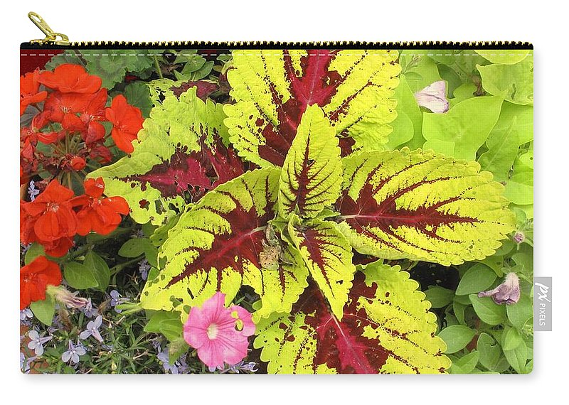 Flowers Carry-all Pouch featuring the photograph Rich Pattern by Ian MacDonald