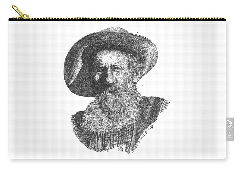 Beaver Dick Liegh Carry-all Pouch featuring the drawing Richard Beaver Dick Liegh by Clayton Cannaday