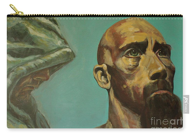 Art Carry-all Pouch featuring the painting Rick by Uwe Hoche