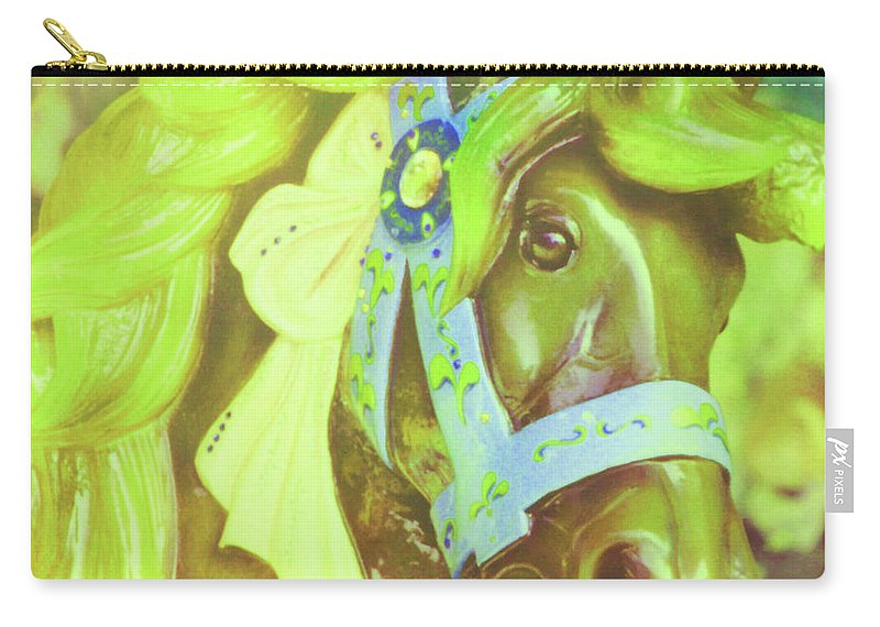 Horse Carry-all Pouch featuring the photograph Ride Of Old Green by JAMART Photography