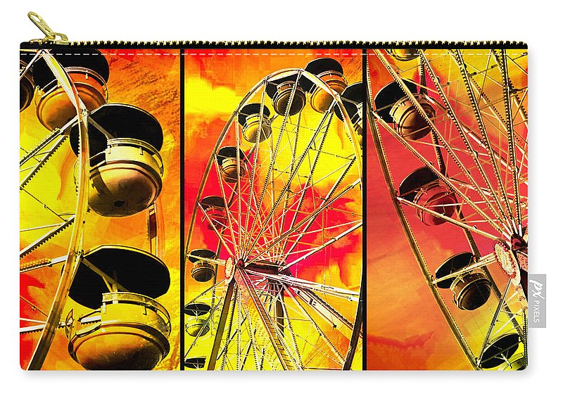 Carnival Carry-all Pouch featuring the photograph Ride With Me by Carolyn Marshall