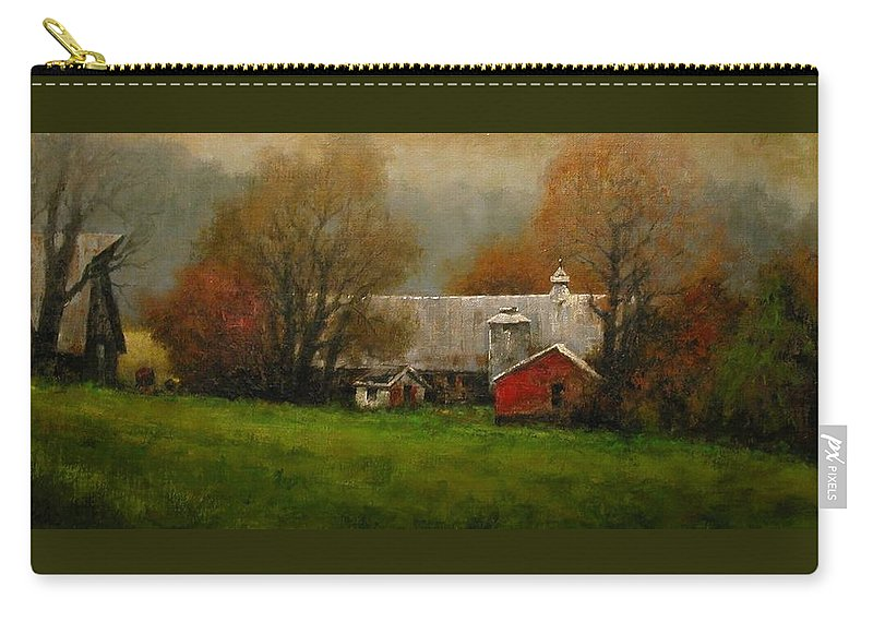 Farm Carry-all Pouch featuring the painting Ridgefield Farm by Jim Gola