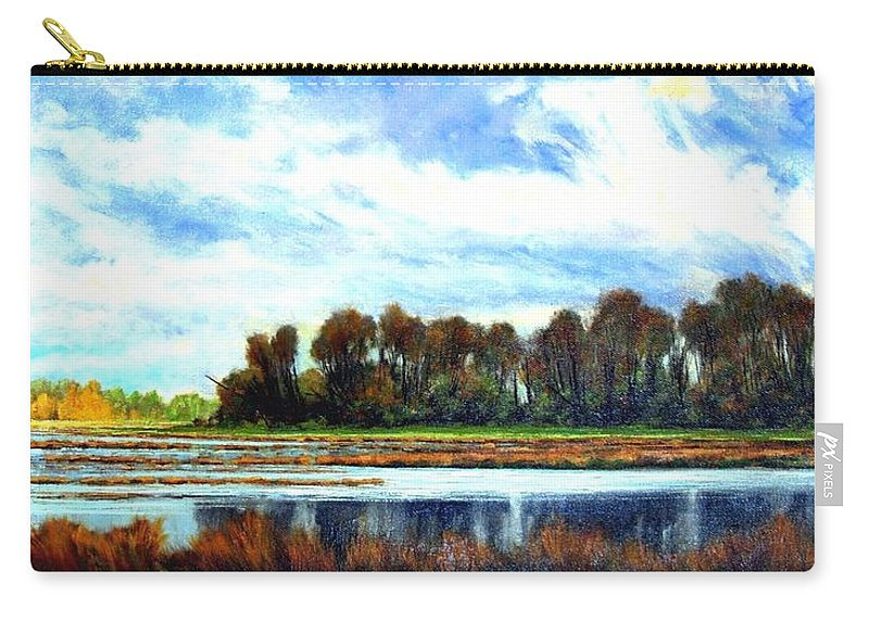 Landscapes Carry-all Pouch featuring the painting Ridgefield Refuge Early Fall by Jim Gola