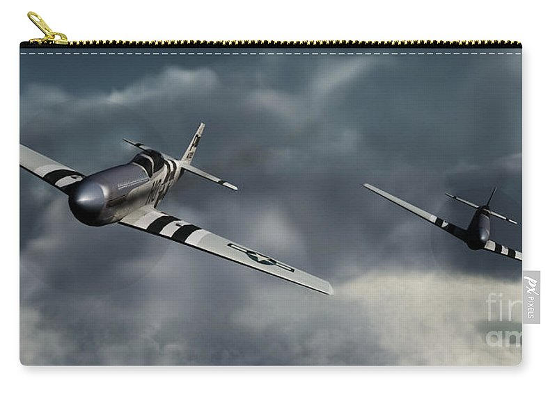 Warbirds Carry-all Pouch featuring the digital art Riding The Storm by Richard Rizzo