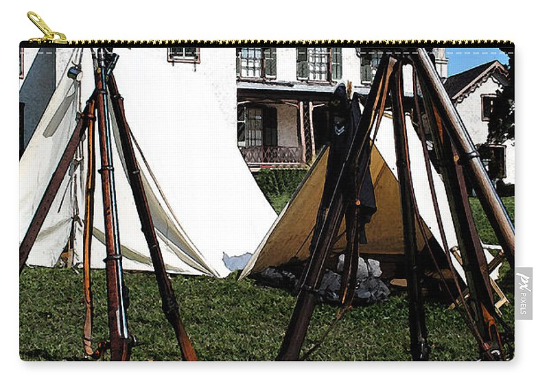 Lincoln Carry-all Pouch featuring the photograph Rifles Of The Civil War by Jost Houk