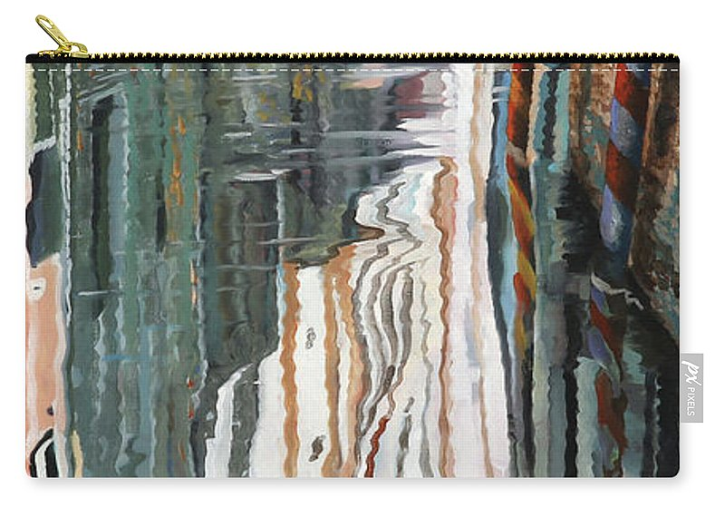 Pale Reflection Carry-all Pouch featuring the painting Riflessi Bianchi by Guido Borelli